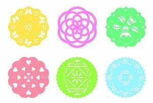 Tescoma Delicia - Plantilla decorativa (6 piezas, plástico), varios colores