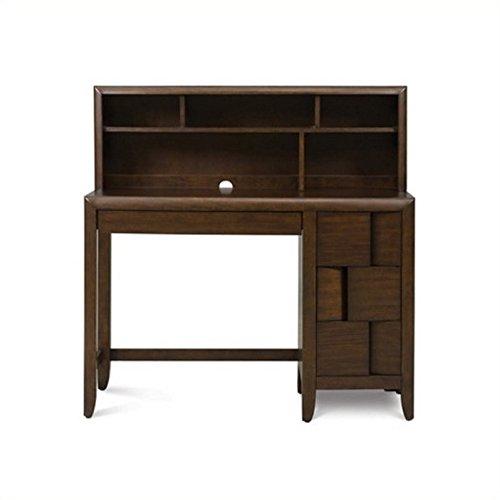 Desk Optional Hutch (Magnussen Twilight Wood 3 Drawer Desk With Optional Hutch in Chestnut)