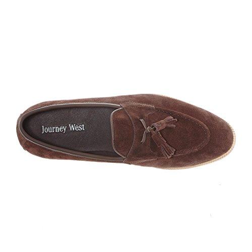 Resa Väster Mens Mocka Tofs Dagdrivare Män Skor Slip-on Dagdrivaren Mockasin Loafers Kontor Smarta Arbets Dagdrivare Skor Brun