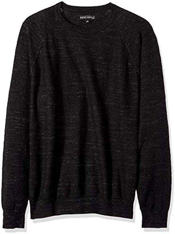 J.Crew Mercantile Męskie Textured Cotton Crewneck Sweater Pullover: Odzież