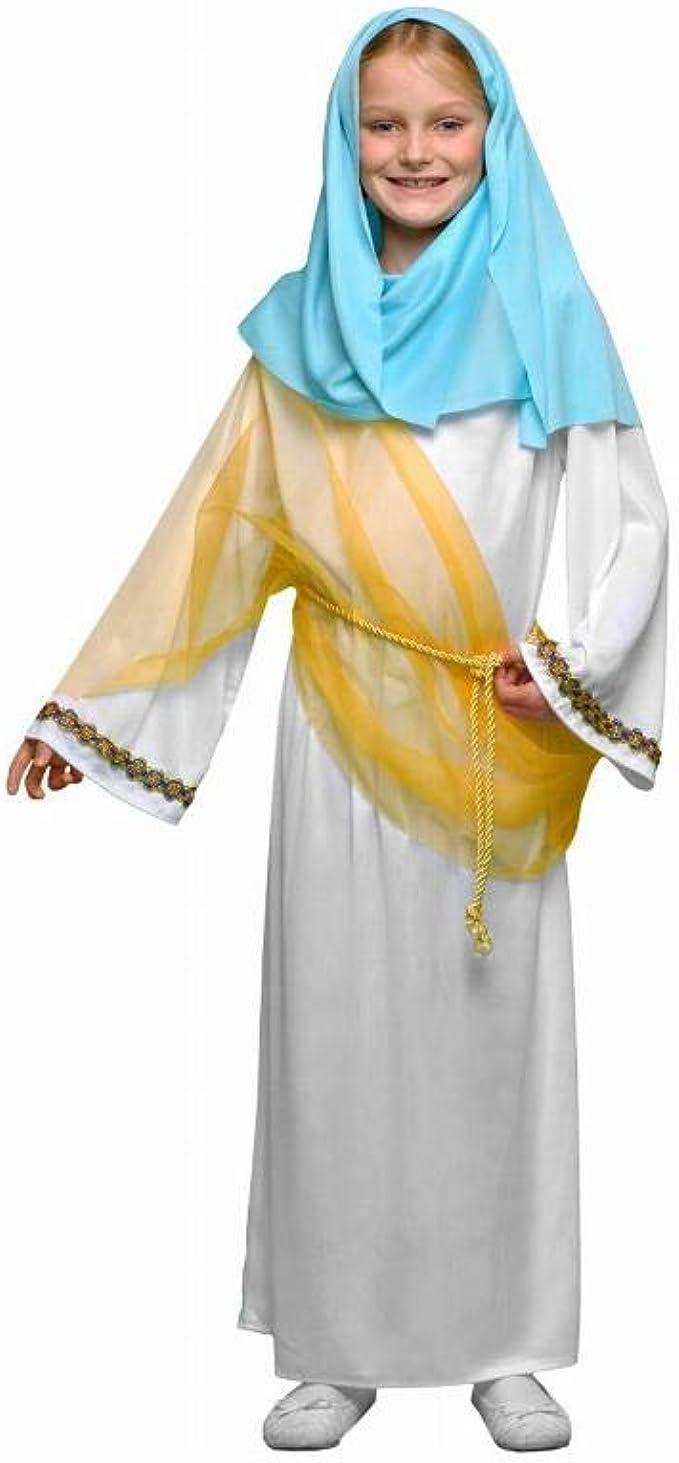 Disfraz de Virgen Niña Navidad: Amazon.es: Ropa y accesorios
