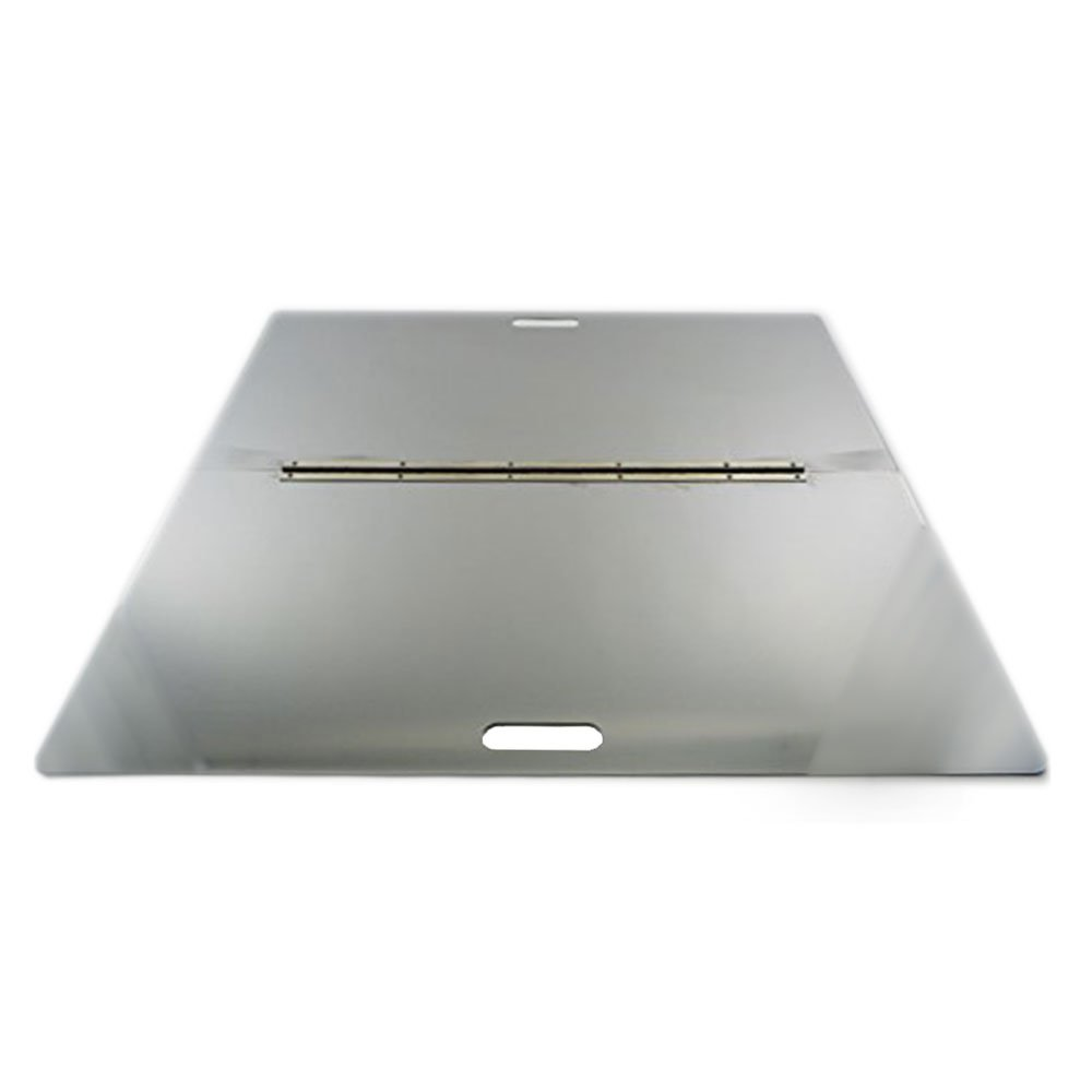 Firebuggz 32'' Stainless Steel Square Fire Pit Snuffer Cover by Firebuggz