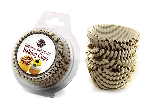 Norpro Gold Swirl Mini Cups, 100-Pack (3441)