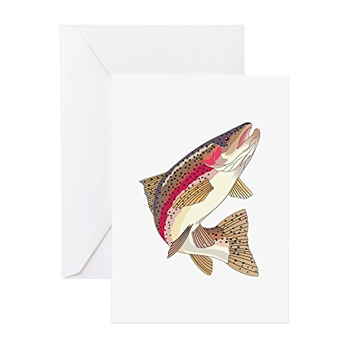 - CafePress - RAINBOW TROUT Greeting Cards - Greeting Card (10-pack), Note Card with Blank Inside, Birthday Card Glossy
