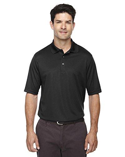 Ash City Core 365 Men's Performance Pique Polo Shirt, Black, XXX-Large ()
