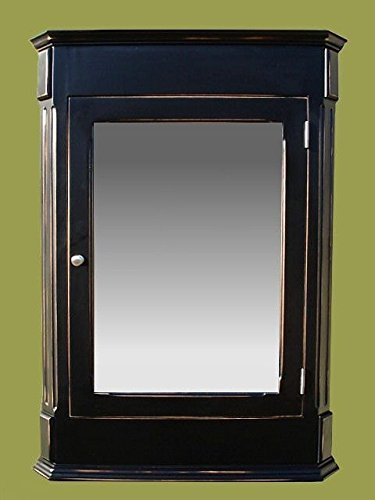 Ludwig Antique Black Medicine Cabinet / Surface Mount / Solid Wood & handcrafted. by D&E Wood Craft Cabinets (Image #8)