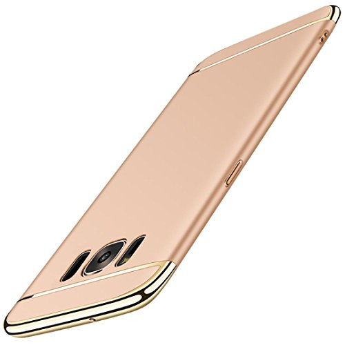 Price comparison product image Galaxy S8 Case, Wensltd Luxury Thin Electroplate Hard Case Cover for Samsung Galaxy S8/S8 Plus (S8 Plus(6.2Inch), Gold)