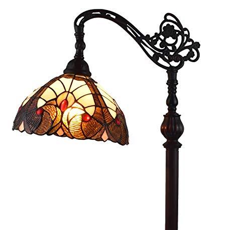 Amora Lighting AM344FL12 Tiffany Style Geometric Reading Floor Lamp, Multicolor