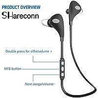 Shareconn V4.1 Wireless Bluetooth Headphones Sports Running Headphones with Microphone, Sweatproof In-Ear Stereo Wireless Bluetooth Earbuds Headset Earphones