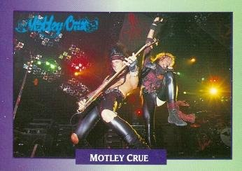 Nikki Sixx Vince Neil trading Card (Motley Crue) 1991 Brockum Rockc Music #178 from Autograph Warehouse