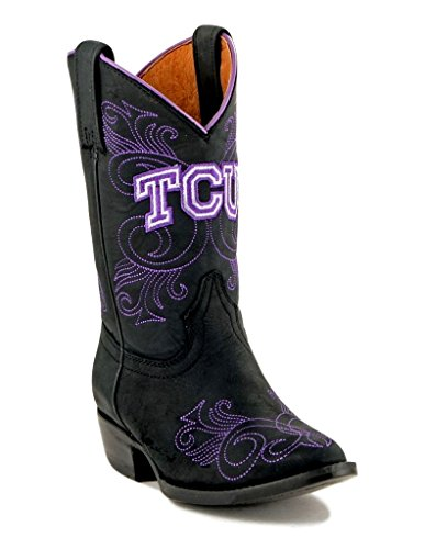 Gameday Boots NCAA TCU Horned Frogs Girls, Black, ()