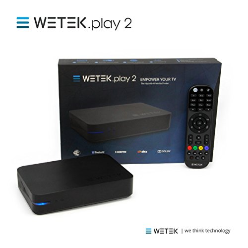 WeTek Play 2 Hybrid Android Set-top Box 4K Ultra HD IPTV/OTT 2 GB DDR3 H.265 (ATSC) by WeTek