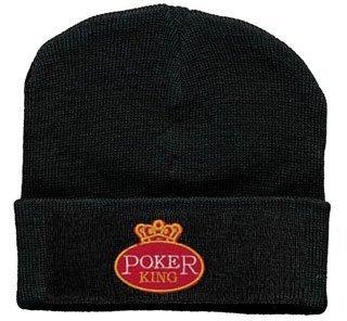 Hip-Hop Mütze mit Einstickung -Poker King- (51051) Wollmütze Wintermütze Skimütze Strickmütze