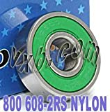 800 Skateboard/in-line/Skate Bearing Nylon Cage Sealed Ball Bearings