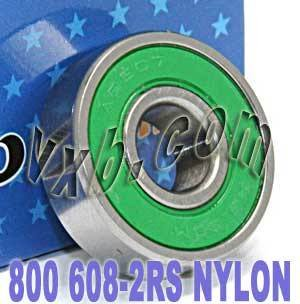 800 Skateboard/in-line/Skate Bearing Nylon Cage Sealed Ball Bearings by VXB