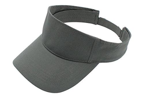 Top Level Sun Sports Visor Men Women - 100% Cotton One Size Cap Hat, DGY (Best Tennis Sunglasses Review)