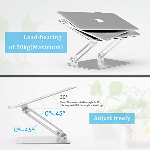 Laptop Stand, Boyata Laptop Holder, Multi-Angle Stand with Heat-Vent to Elevate Laptop, Adjustable Notebook Sand for Laptop (4-17 inch) Compatible for MacBook Pro/Air, Surface Laptop and so on by Boyata (Image #3)