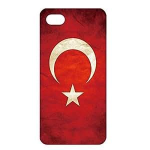 WQQ Vintage Turkey Flag Pattern PC Back Case for iPhone 5