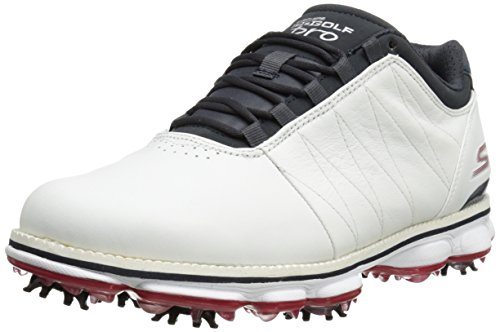 Skechers Performance Men's Go Golf Pro Golf Shoe, White/Navy/Red, 9.5 M US (Skechers Golf Shoes compare prices)