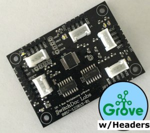 Grove/Pin Headers I2C 4 Channel Mux Extender / Expander Board for Arduino and Raspberry Pi