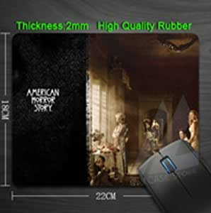 American Horror Story Design Anti slip Computer Mouse Pad Durable Rubber Custom Mouse Mat
