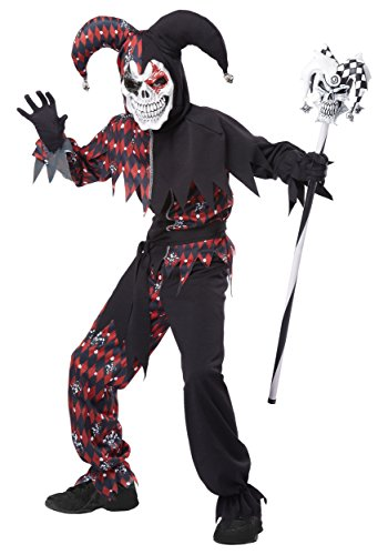 California Costumes Sinister Jester Costume, One Color, 10-12 -