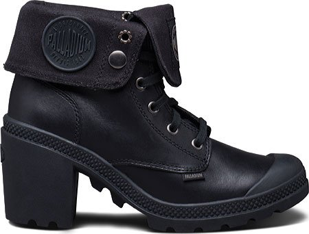 PALLADIUM Botas de cordones Baggy Heel Leather Negro EU 37