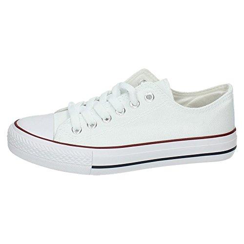 7 Mujer Blancas 12 Zapatillas Blanco Lonas A1612A DEMAX UxB6Xdq6