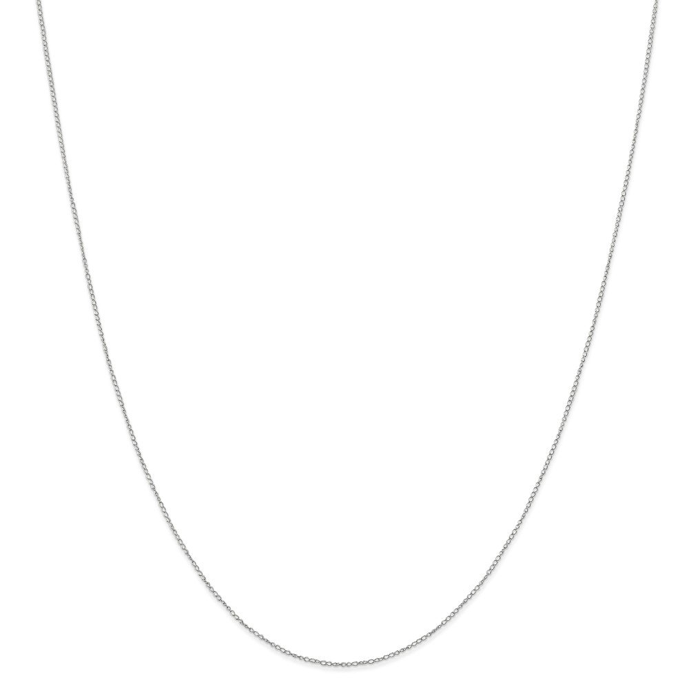 Mia Diamonds 10k White Gold .42 mm Carded Curb Chain Necklace