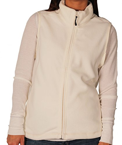 Landmark Ladies Full-Zip Micro-Fleece Vest, Winter White, Size XX-Large