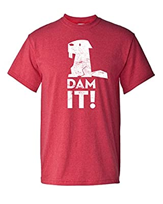 Dam It Beaver Funny Animal Struggle is Real Humor Fishing Adult Men's T-Shirt
