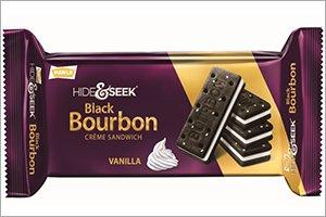 (Parle Hide & Seek Black Bourbon Vanilla Creme Sandwich - 100 Grams (Pack of 3) )
