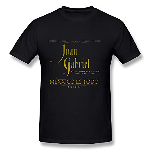 (Best Black T Shirt For Men Juan Gabriel Tour 2016 Logo)