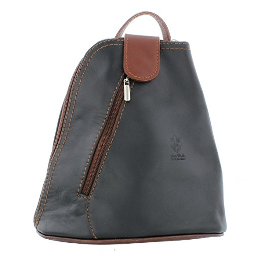 F264S choice colours Leather Black brown Shoulder of Handbag in Backpack Small a Rucksack Zzqvz6