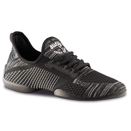 110 Dance blanco Mujeres De Sneakers Negro Baile zapatos Anna Kern Suela Pureflex Sneaker gris q6wUpE0