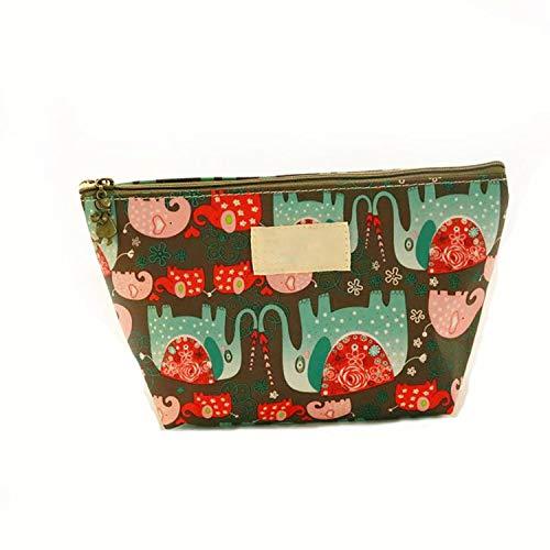 (huayun Beauty Travel Cosmetic Bag Girl Multifunction Pouch Printed Cosmetic Storage Bags Wateroof Handbag Package,J,)