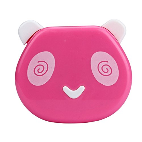 Usstore 1PC Contact Lens Box Cartoon Panda Candy Color Case Eyes Care Kit (Pink) (Aqua Contact Lenses)