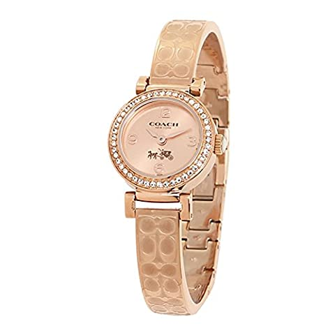 COACH Women's Madison Fashion Bangle Watch Rose Gold/Rose Gold Watch (Coach Women Gold Watch)