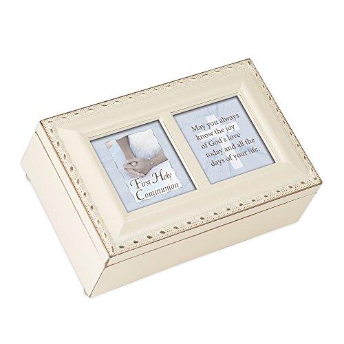 Cottage Garden First Communion Girl Petite Ivory Music Box Jesus Loves Me -