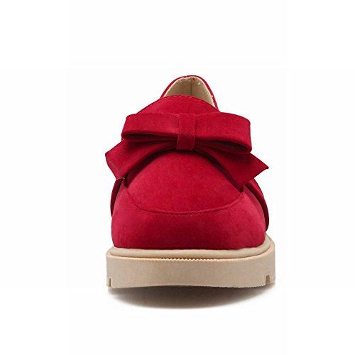Show Glans Womens Fashion Söta Bågar Loafers Lägenheter Skor Röd
