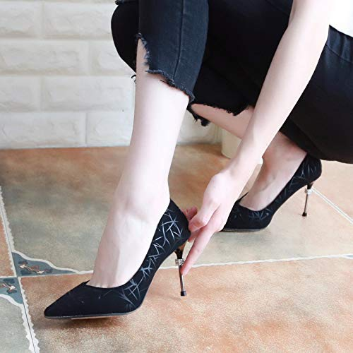 Women'S Golden Autumn In Mouth Drill Sharp Temperament 8Cm Shallow High Shoes Six Colors Heeled Fine KPHY With Thirty Fashion Water Head Shoes Shoes 6Aqwd