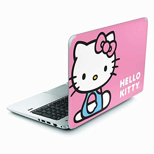 Hello Kitty Envy TouchSmart 15.6in Skin - Hello Kitty Sitting Pink Vinyl Decal Skin For Your Envy TouchSmart 15.6in