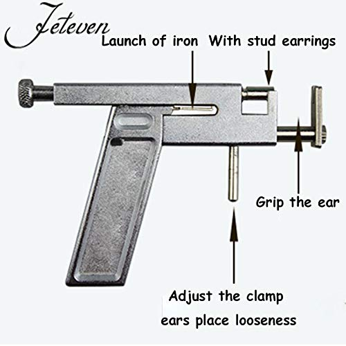 New Professional Steel Ear Nose Navel Body Piercing Gun 98pcs Studs Tool Kit Set by Toptree (Image #2)
