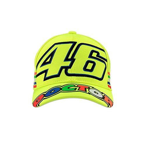 (Valentino Rossi VR46 Kids 46 Stripe Cap 2018 Yellow)