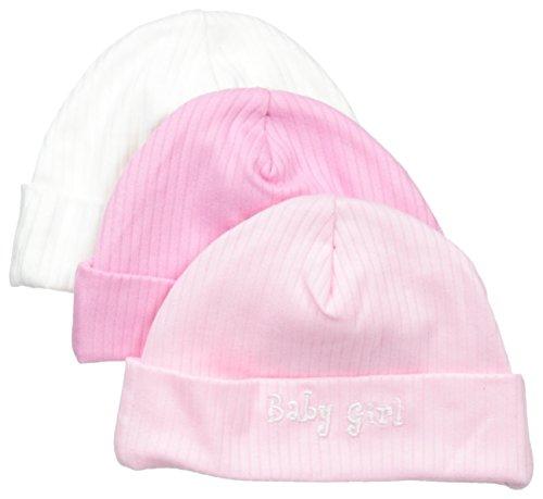 (Gerber Baby-Girls Newborn 3 Pack Textured Knit Caps Baby, Pink, Newborn)