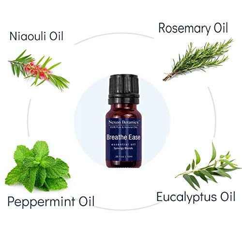 Aromatherapy Essential Oil Synergy Blend Set - 100% Pure & Natural Undiluted Therapeutic Grade Blends Include Breathe Ease, Health Plus, Zen Head, Muscle Ease, Zen Sleep, Immune Boost Oils 6 x 10 ml by Nexon Botanics (Image #1)
