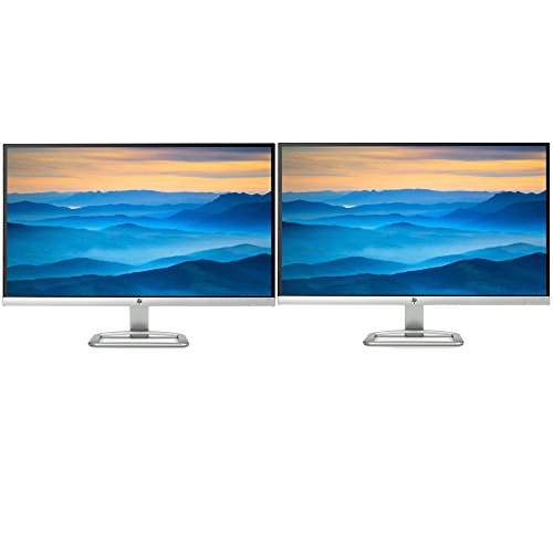 Hewlett Packard (T3M88AA#ABA) 27er 27-Inch IPS LED Backlit PC Computer Dual Monitor