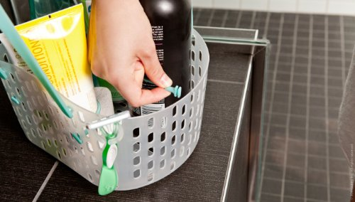 Quirky Cargo   Shower Caddy With Customizable Compartments