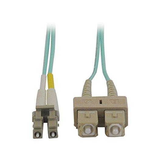 50 Duplex Fiber (Tripp Lite 10Gb Duplex Multimode 50/125 OM3 LSZH Fiber Patch Cable (LC/SC) - Aqua, 5M)