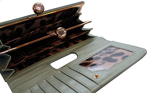 scatola oro Brand New placca borsa logo pochette regalo Anna blu con autentica in Martinee Smith con OSqxBw0